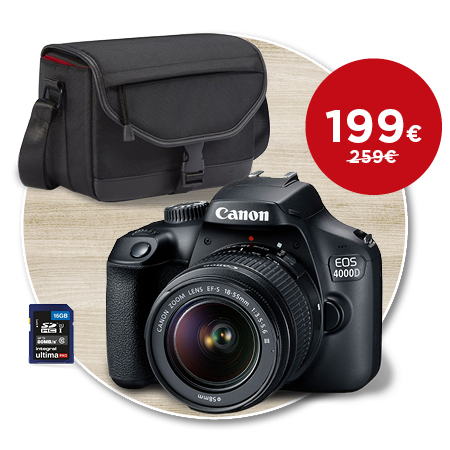 Canon EOS 4000D + 18-55 mm DC III Value Up Kit